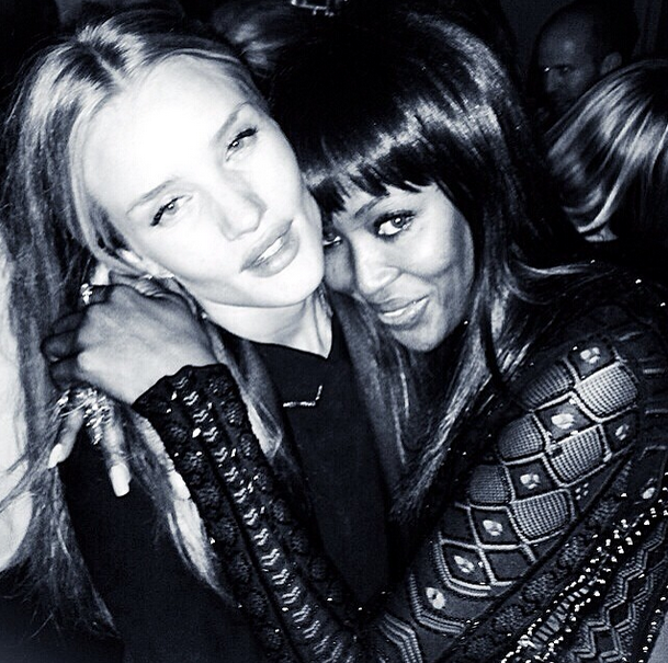 Rosie Huntington-Whiteley & Naomi Campbell