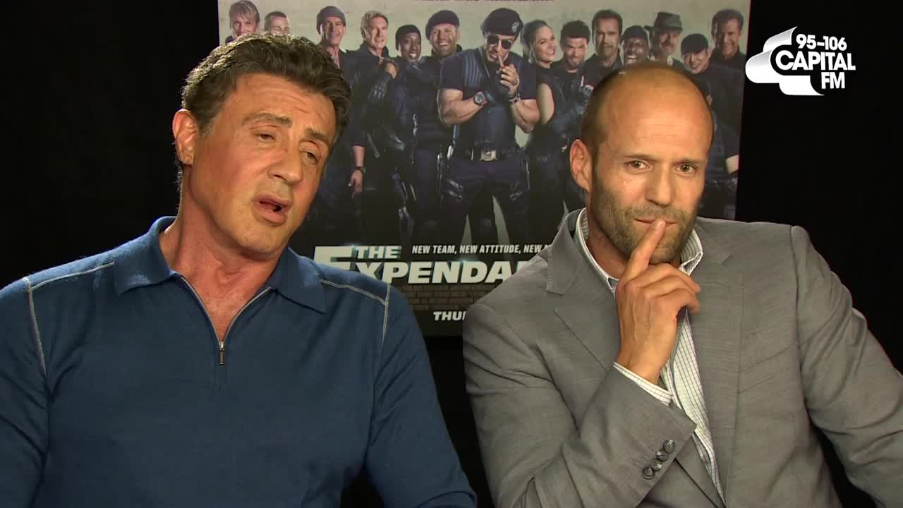 Jason Statham & Sylvester Stallone Sing Ariana Grande's 'Problem'