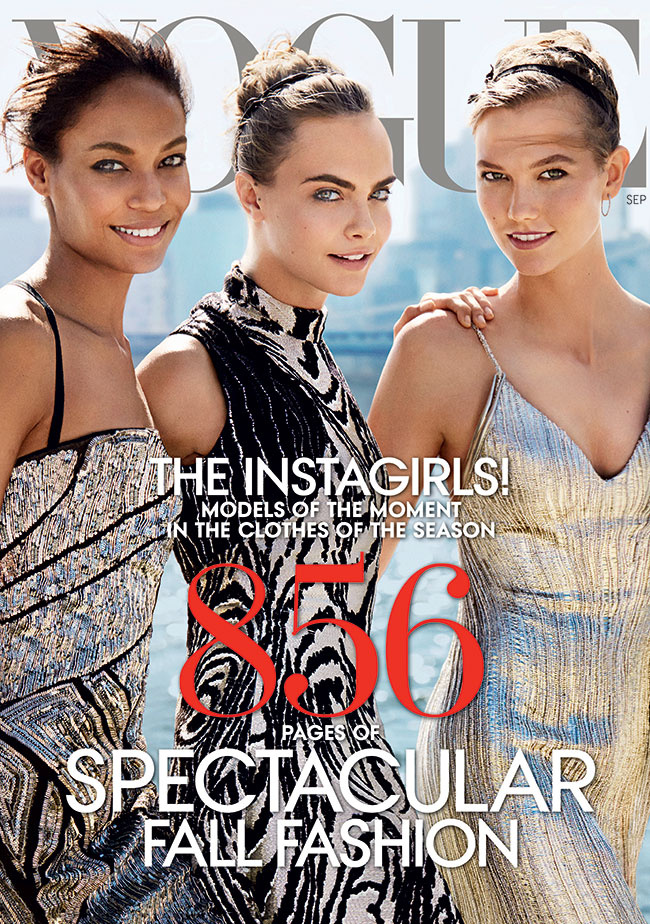 Cara Delevingne, Joan Smalls, , and Karlie Kloss